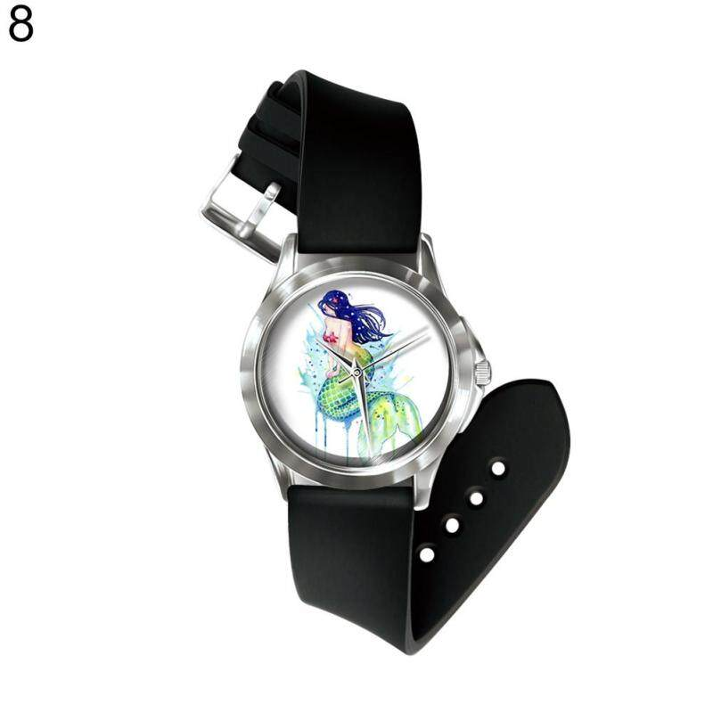 Phoenix B2C Number Free Quartz Wrist Watch Colorful Cartoon Mermaid  Band Hand Decoration (8#) Malaysia