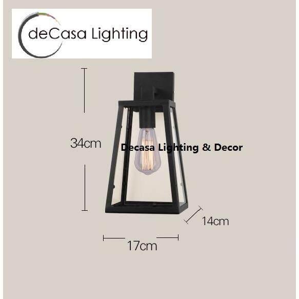 Decasa Lighting Best Seller Decorative Wall Lights (Black) DECASA WALL LIGHT (LY-RQY-001)