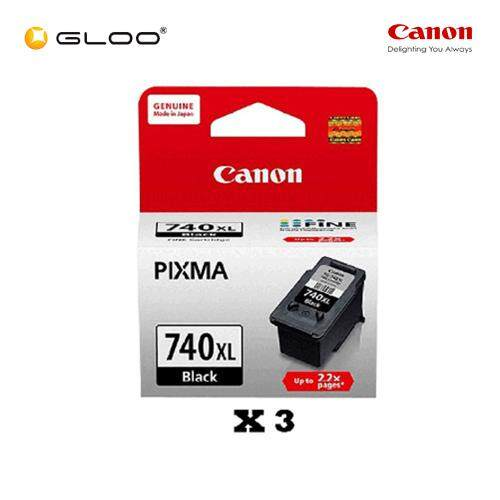 [Set of 3] Canon Fine 11 PG-740XL Ink Cartridges - Black