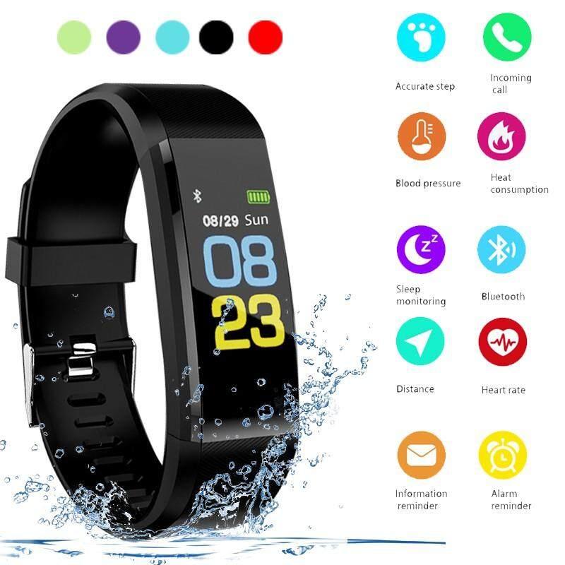 115 Plus Tahan Air Gelang Olahraga Pintar Smartwatch Kebugaran Denyut Jantung Tracker Gelang Pengukur Tekanan Darah Warna Layar Jam Tangan Pintar Untuk Android Ios Smart Band By Misuli.