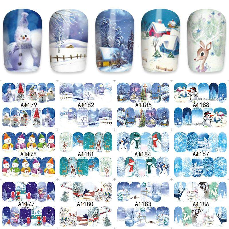 BLY 12 for 1 Christmas Water Transfer Stickers Nail Sticker Philippines