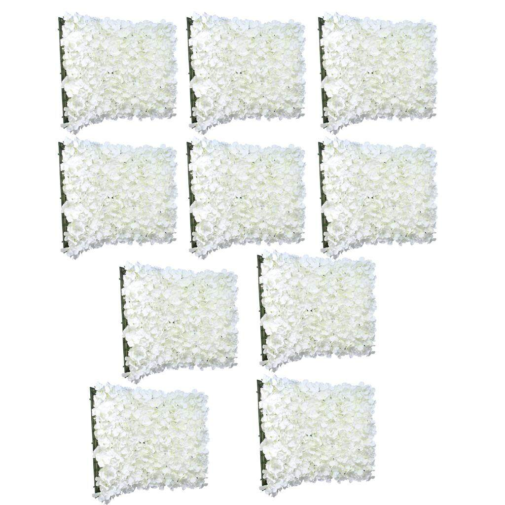 GuangquanStrade 10 pieces Artificial Flower Wall Wedding Venue Background Floral Decor Cream