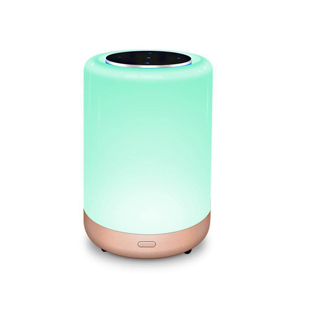 niceEshop LED Table Lamp With Bluetooth Speaker, Smart APP Atmosphere Light,Sensor Touch Bedside Lamp,Dimmable Warm White RGB Color Changing Night Light - intl