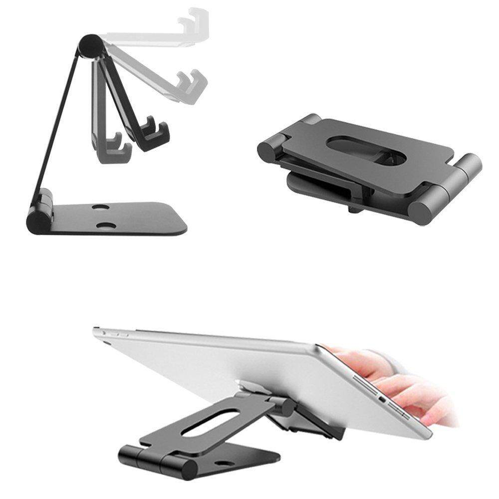 JDM Portable Universal Dual Foldable Adjustable Cell Phone Desk Stand Video Game Holder Dock for iPhone
