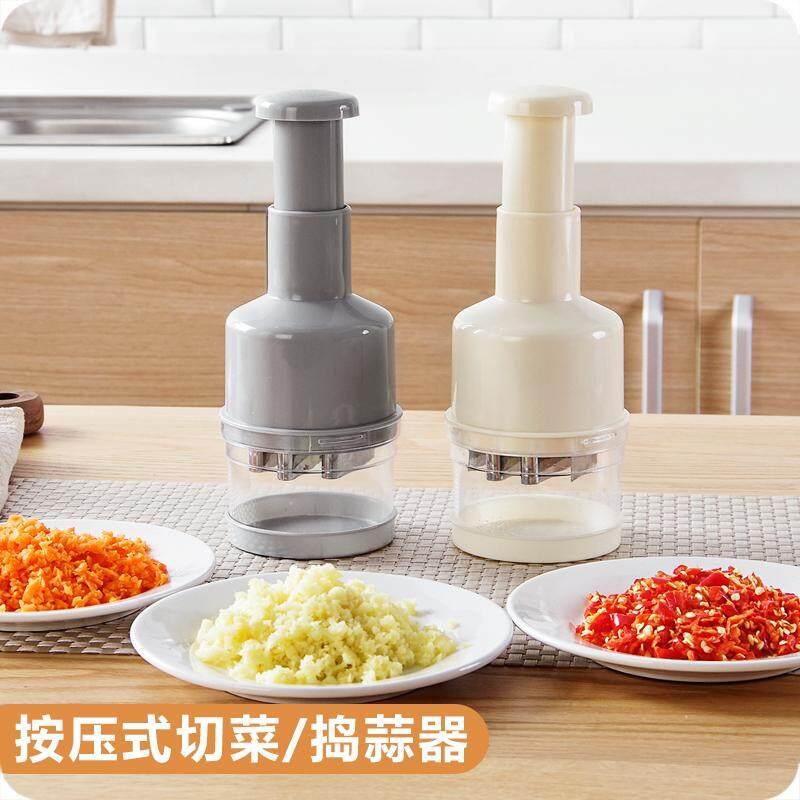 Kitchen Multifunctional Hand Pressure Stainless Steel Manual Garlic Mixer Chopper