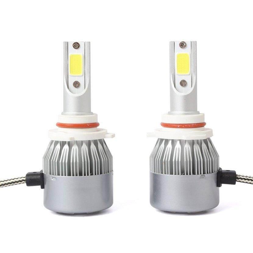 2pcs C6 72W 7600LM 6000K tongkol LED mobil lampu lampu Kit 9005