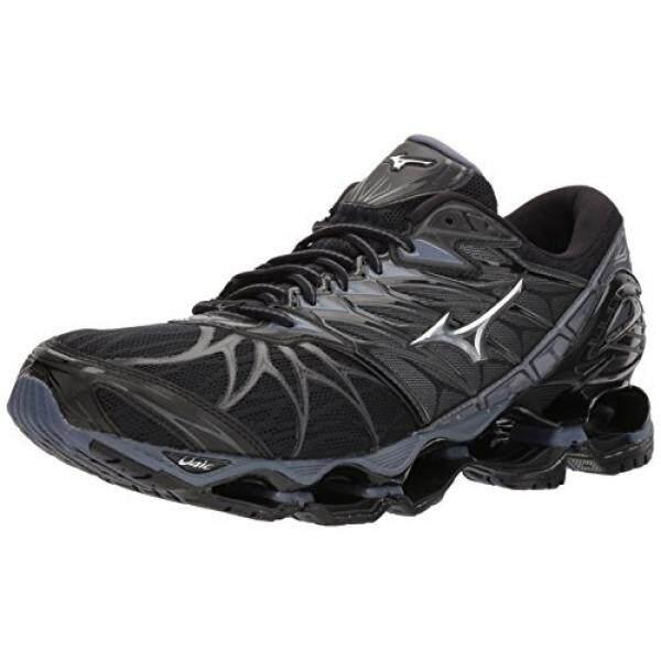 the latest 95cfd 0c61e ... australia mizuno mens wave prophecy 7 running shoe black silver 11 d us  dbbc6 1cd38