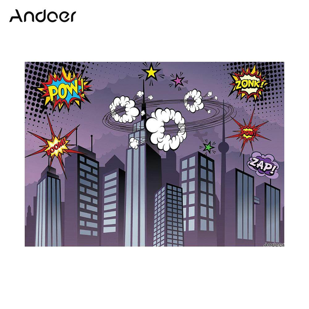 Andoer 1.5 * 2.1m/5 * 7ft Super Hero City Photography Background Baby Children Backdrop Photo Studio Pros - intl