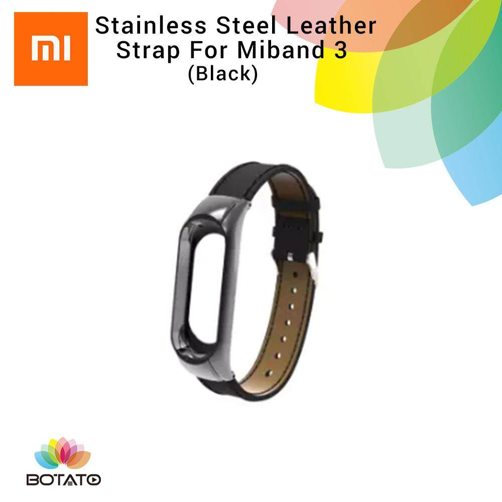 *Strap only* [[Leather Strap]] for Xiaomi Mi Band 3 [[Botato Electronic]]