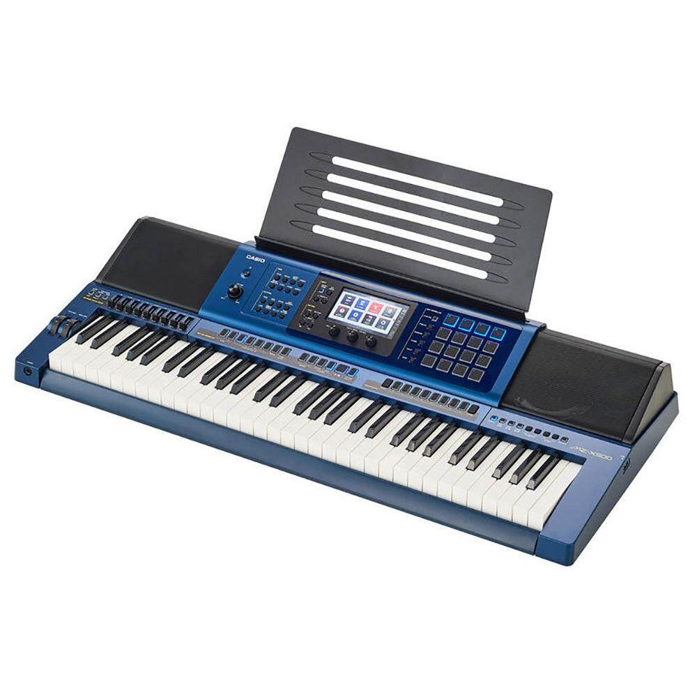 61 Key Casio MZ-X500 Electronic Keyboard Arranger Piano Organ 1100 Preset Tones HEX Layer 330 Rhythms Color Touch LCD XY-Graph Parametric EQ Drabar Organ Real Time MZ X500 MZX500