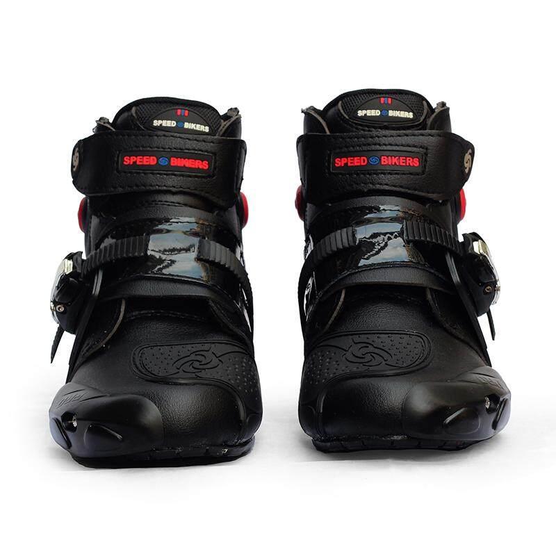 547f1c186b1 SR Men Soft Motorcycle Boots Biker Waterproof Speed Motocross Boots  Non-slip Motorcycle Shoes Shoe