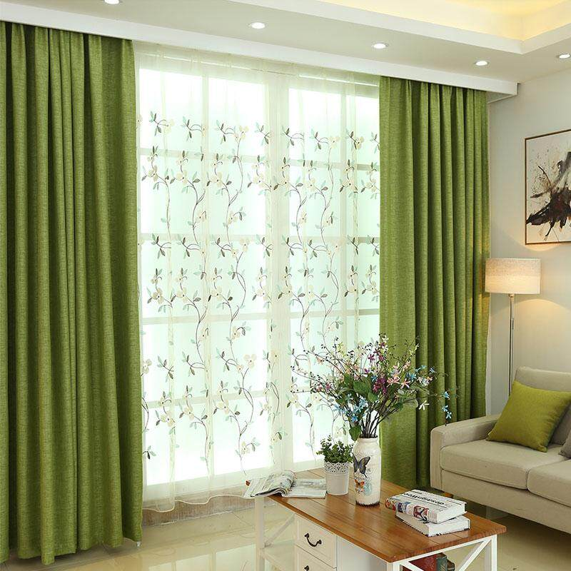 [OrangeHome] 100*130 CM (1 pc) Blackout Curtain Drape Hook Window Room Bedroom Balcony Green A01-CSMMC - intl