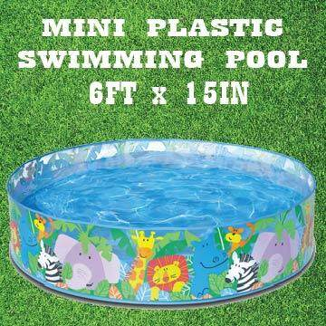 Mini Plastic Swimming Pool For Kids Family 6FT X 15IN