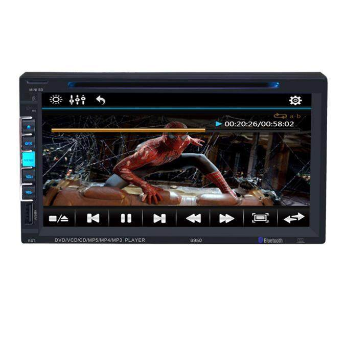 Malloryshop 7 In Dash 2 Din HD Car Stereo DVD Player Bluetooth Touch Screen FM Radio
