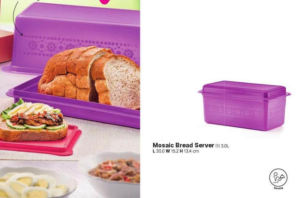 Tupperware Mosaic Bread Server (1) 3L - Purple