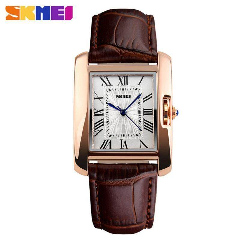 SKMEI 1085 Womens Leather Strap Analog Display Causal Quzrtz Watches Watch For Women Malaysia