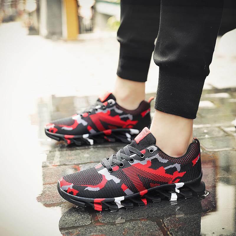 Sepatu Mode Sepatu Loreng Pria Sepatu Lari Penambah Tinggi, Hiking Pria Kenyamanan Alas Kaki