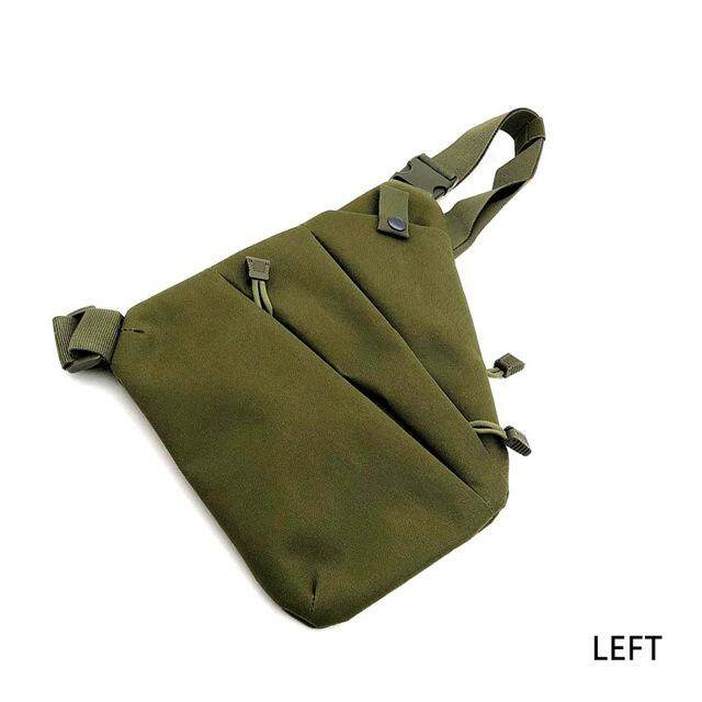 fa86b41b8c0c Men Women Canvas Crossbody Shoulder Chest Backpack Anti Theft Sling Bag  Left Right