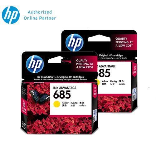 [2 Units] HP 685 Yellow Original Ink Advantage Cartridge CZ124AA