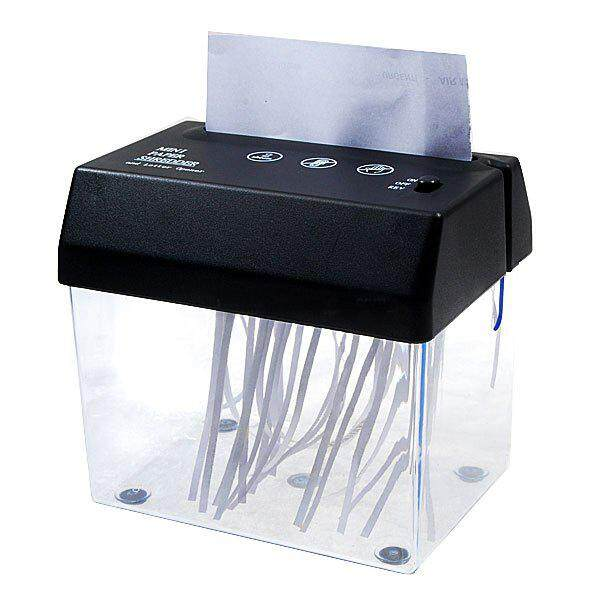 Desktop A5 Or A4 Folded Paper Strip-Cut Mini Small Usb Shredder For Home/office By Shakeshake.