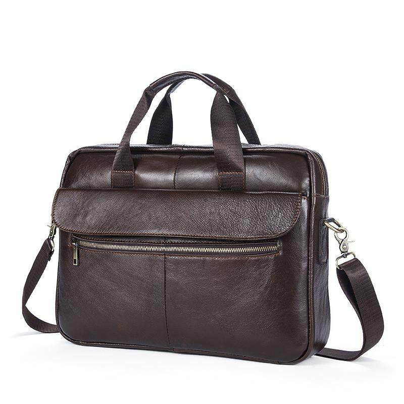 0e8bbd76d441 Mens Business Bandbag Inclined Shoulder Bag Solid Color Retro Single  Shoulder Slant Bag 1117 - intl