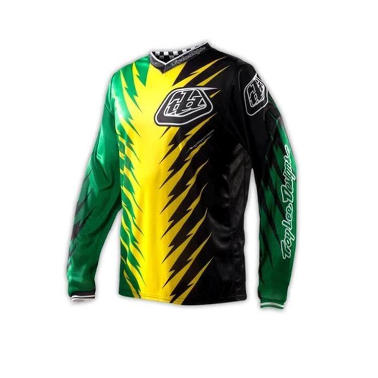 TLD Kecepatan Turun Sepeda Gunung Riding Suit Jaket Lengan Panjang Musim Panas Sepeda Motor Lintas Negara Kemeja-T.