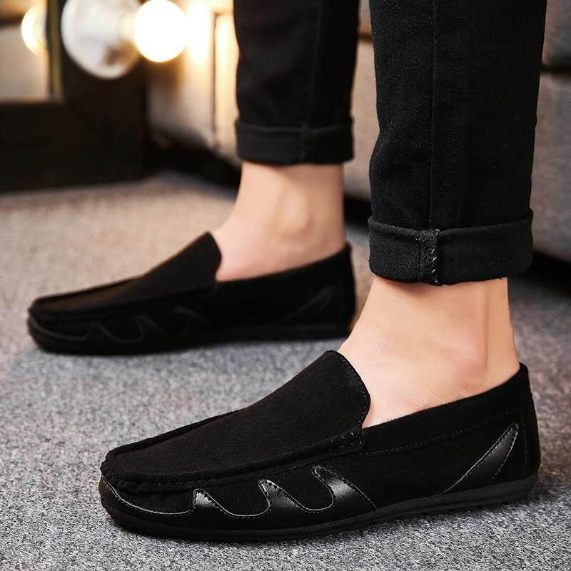 Cyou 2018 Fashion Pria Sepatu Loafer Kulit PU Sepatu Pria Berongga Sepatu Datar Kasual Sepatu Malas