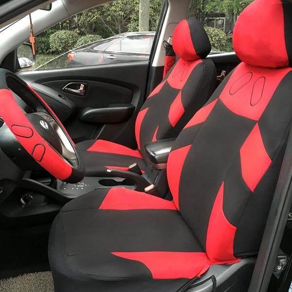 Tirol Universal Mobil Alas Tempat Duduk Cushion Set 13 Pieces untuk Sedan SUV Biru Merah Abu-abu Beige - 4