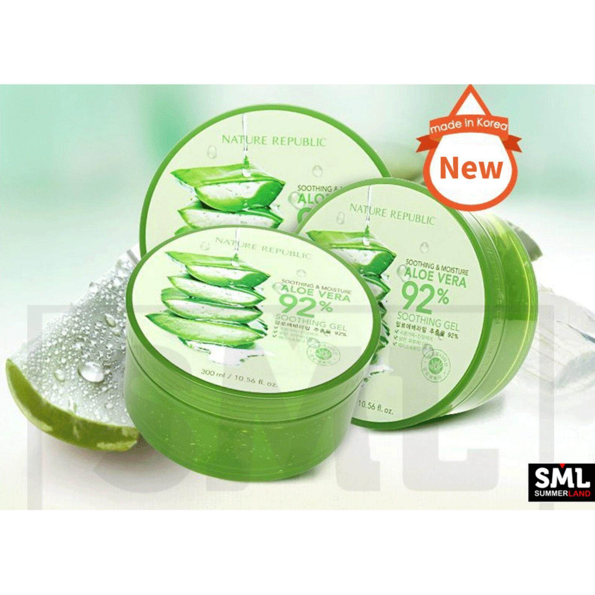Health Beauty Skincare Buy At Best Nature Republic Aloe Vera 92 Soothing Gel 300ml Original 11 Units And Moisture