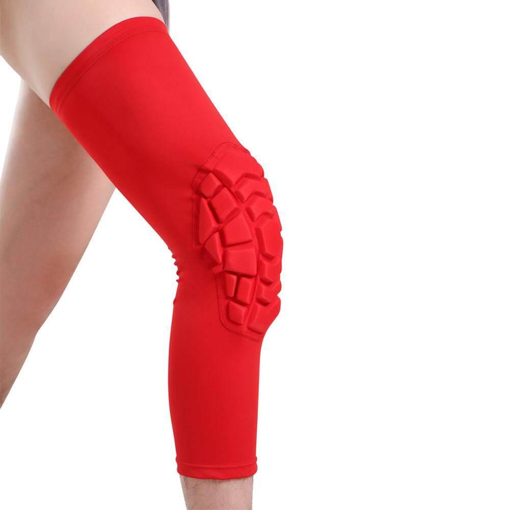 Sarang Lebah Bantalan Lutut Basket Kaki Pelindung Lutut Rajut Dukungan