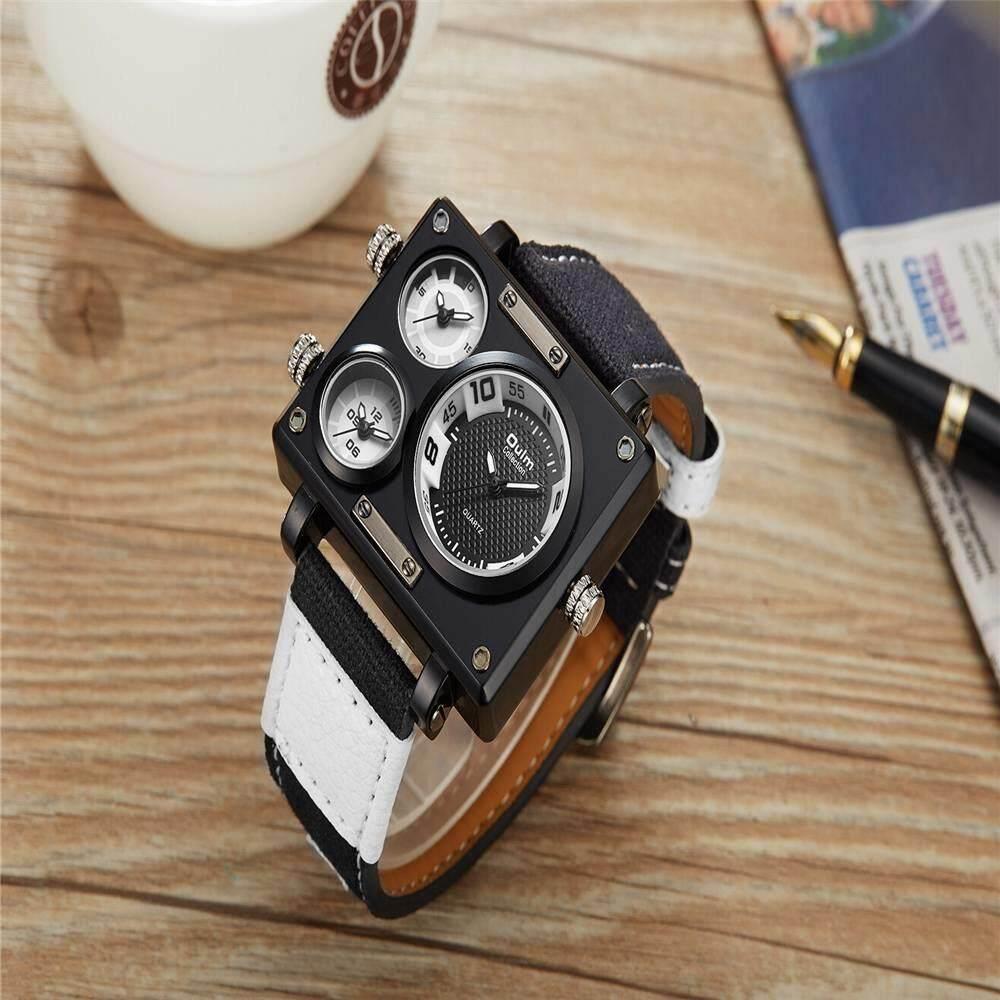 360wish Oulm Mens Military Oversize Multi Timezones Leather Analog Adidas Adh2912 Jam Tangan Unisex Hitam Vnd 402281 2018 Fashion Sport Canvas Band Quartz Wrist Watch Vnd402281