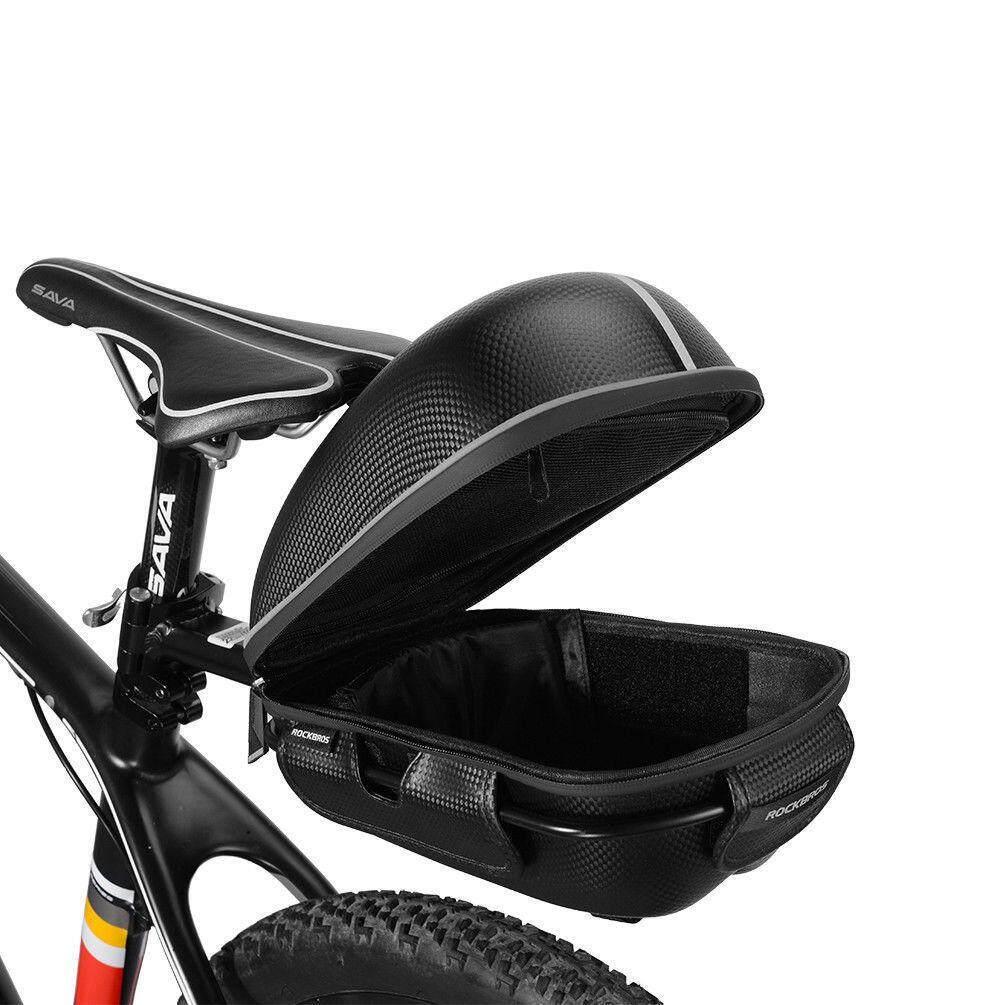 Kelebihan Rockbros Tas Sepeda Rear Carrier Pack Trunk Waterproof Bike Seat Saddle Rack Bag With Luggage Black Quick Release