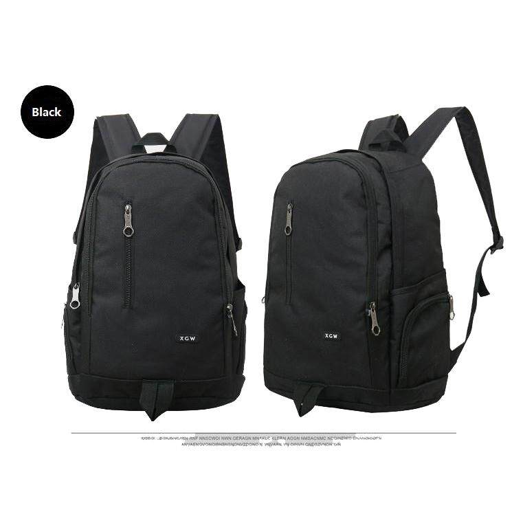 "(Black)15"" XGW Fashion Casual Travel Sport School Gym Nylon Backpack Laptop Bag"