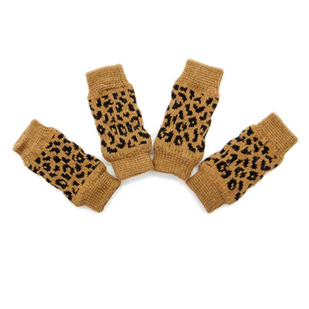 Bintang 4 Pcs/set Hewan Peliharaan Tempurung Lutut Kaus Kaki Pelindung Kaki Cedera Kaki Pelindung Lengan Melindungi Luka Untuk Hewan Peliharaan Stype: Macan Tutul Cetak (s) By Star Mall.
