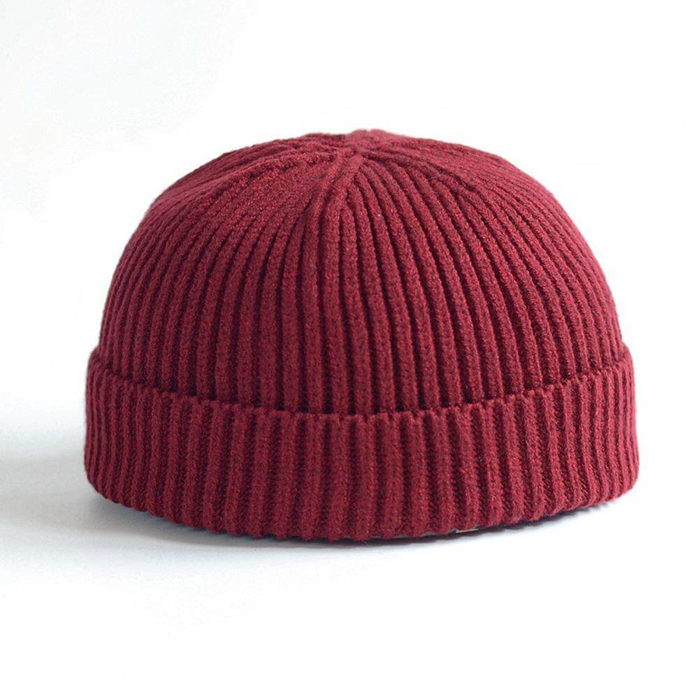 1cdcf1fb4985c Ishowmall Men Women Knitted Hat Beanie Skullcap Sailor Docker Fisherman  Cuff Brimless Cap