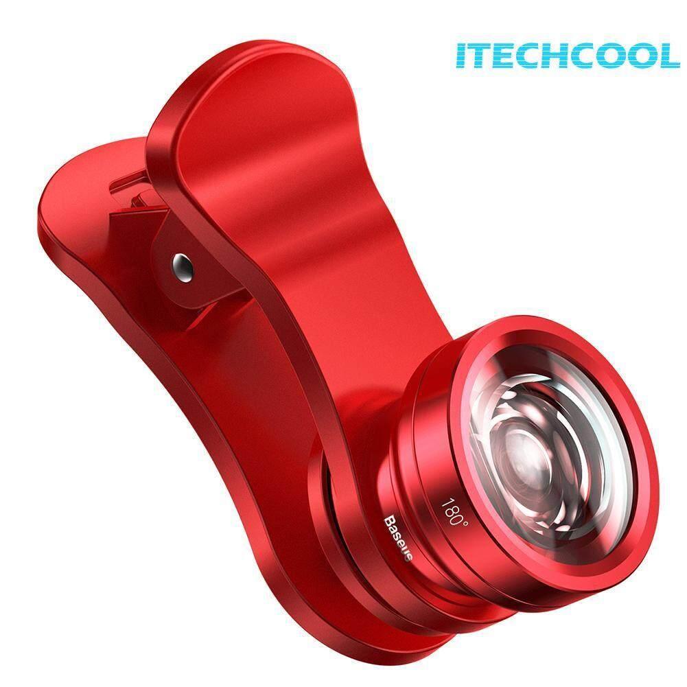 Baseus Phone Camera Clip Lens HD Wide Angle+15X Macro Lens+180 Fisheye Lens(Neutral)-C