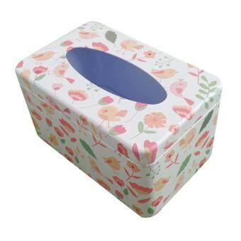 การตรวจสอบของ BolehDeals Napkin Paper Holder Removable Tissue Box Covers Tinplate Dinning Decor Tableware discount