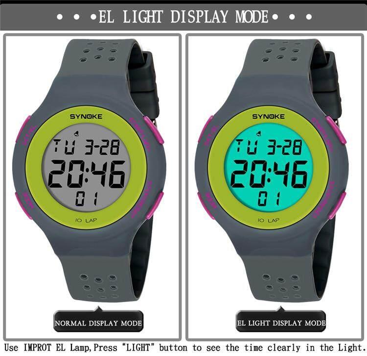 SYNOKE Brand Watch Fashion LED Digital waterproof Men Women Sport Wrist Watch Male Female Clock Electronic