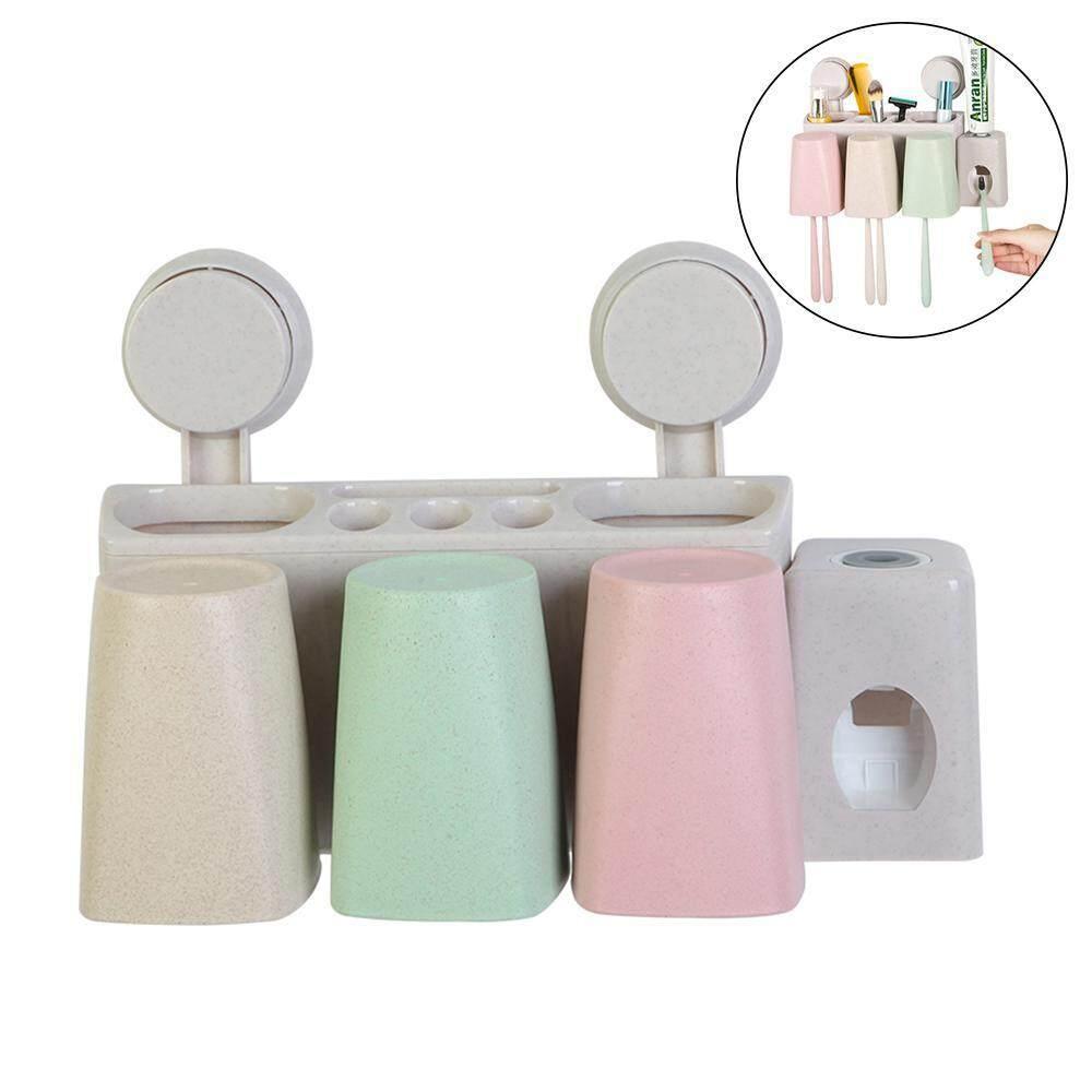 Leegoal Athroom ถ้วยดูดสูญญากาศแปรงสีฟันอัตโนมัติยาสีฟันที่วางติดผนัง - Intl.
