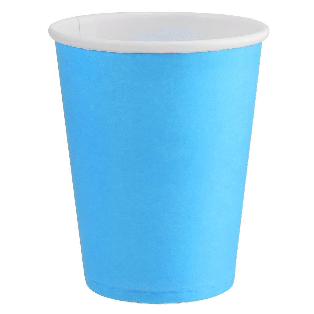 BolehDeals Paper Cups-Plain Solid Colours Birthday Party Tableware Catering Light Blue
