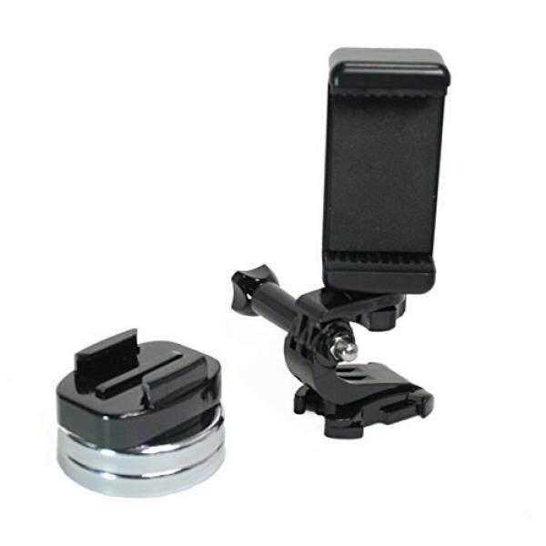 Swafoto Telepon Cerdas Tongkat & Tripod Aksi Mount Berlapis Krom Kamera Magnetis & Dudukan Telepon W/Cepat Klip untuk GoPro, Kamera Olahraga, atau Telepon. Bagus untuk Video Gambar, Livestreaming atau Wod. (Lg. Klip Magnet)-Intl