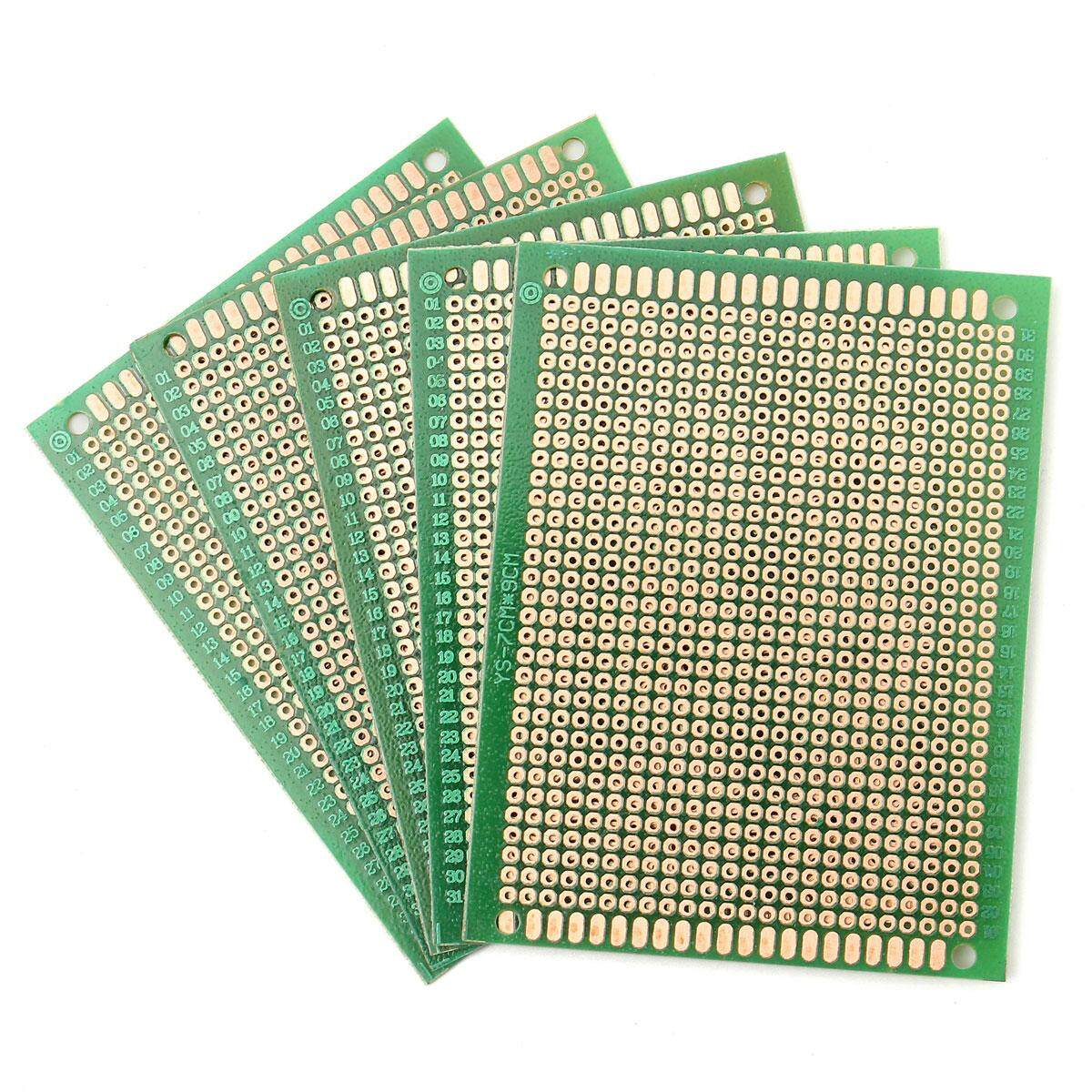 Features 10pcs 4x6cm Double Side Prototype Pcb Universal Printed Paper Circuit Board 5pcs Diy Soldering Copper 70mm X 90mm