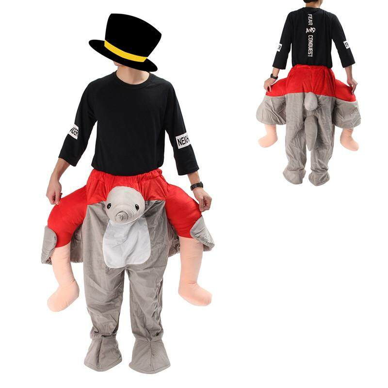 Hình ảnh Carry Me Back Ride On Mascot Costume animals Xmas Party Fancy Dress Adult