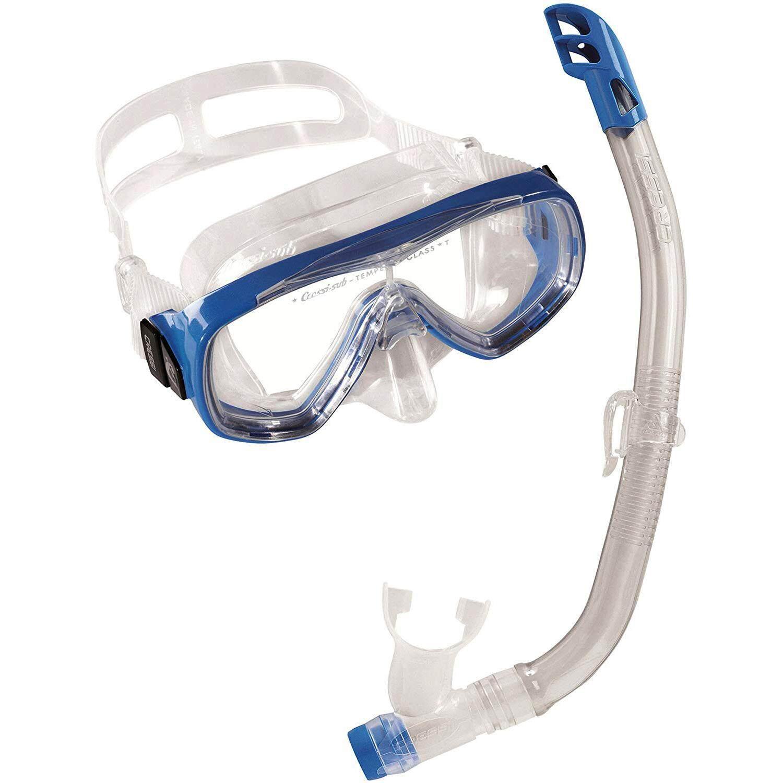 a4de019bcf57 Cressi ONDINA VIP Junior Snorkeling Mask Semi Dry Snorkel Snorkeling Set  for Boys Girls Kids Children