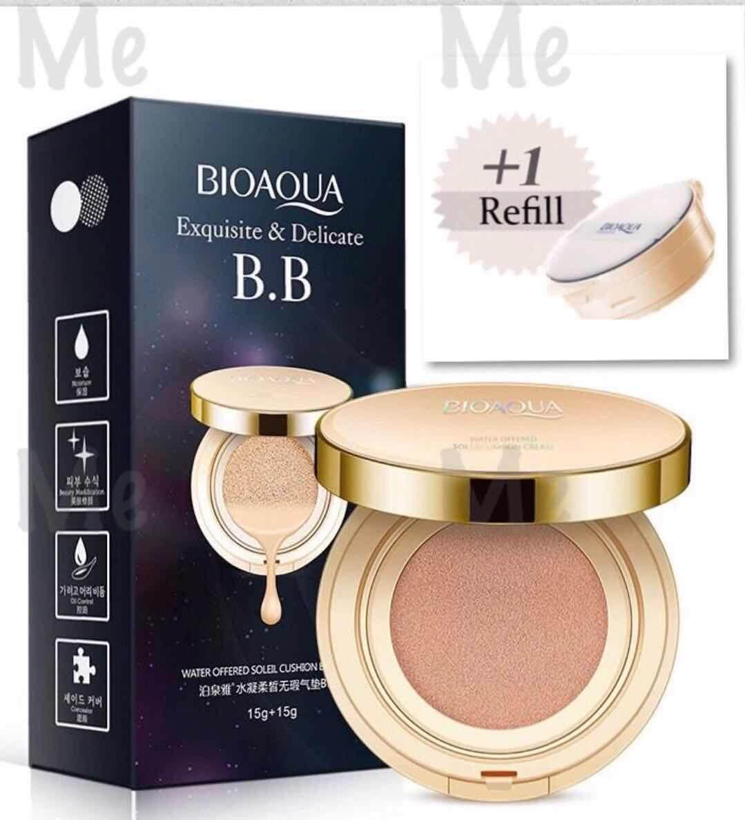 Fitur Refill Bioaqua Bb Cream Air Cushion Free Masker Bibir Dan Buy 1 1bioaqua 15g