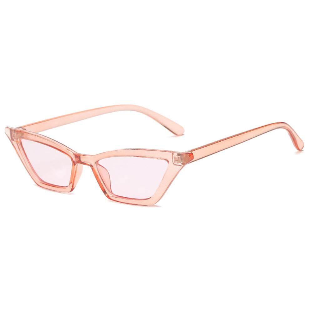 Qimiao Vintage Wanita Mata Kucing Kacamata Olahraga Snap Jalan Kacamata Hadiah Ulang Tahun Warna Lensa: