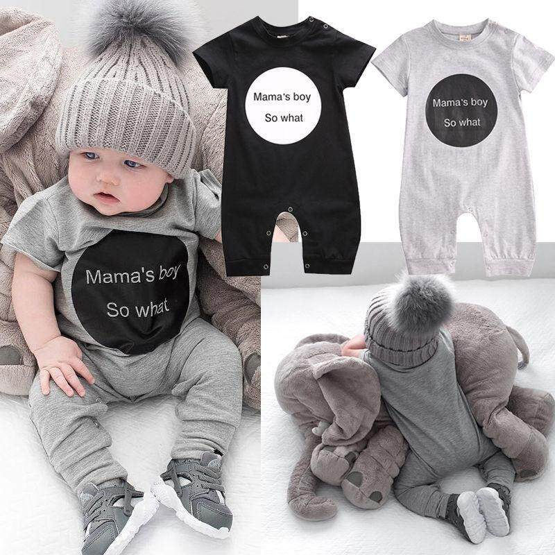 d6e84ba32de1 Infant Newborn Baby Girl Bodysuit Mama s Boy Romper Jumpsuit Outfits Clothes