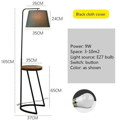 Floor Lamp Nordic Living Room Simple Sofa Coffee Table Lamp Remote Control Creative American Study Bedroom with Table Standing Lamp