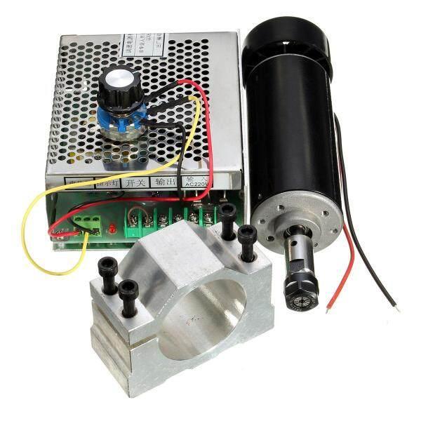 Giá 500W 100VDC ER11 Chuck Động Cơ Trục Chính CNC + Kẹp 52 Mm + Bộ Điều Khiển Tốc Độ CNC Tự Làm