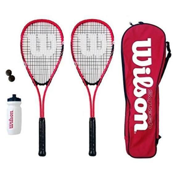Hình ảnh Wilson Hyper Team 500 Squash Racket Set With Squash Balls & Waterbottle